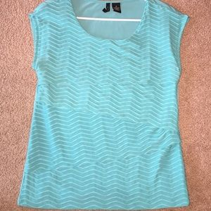 New Directions Teal Blouse Size Medium